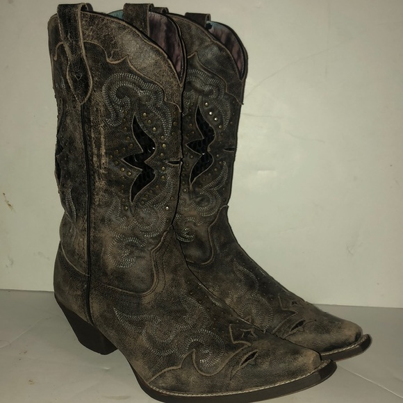 a142802568d Laredo Lucretia cowboy boot size 11 brown leather